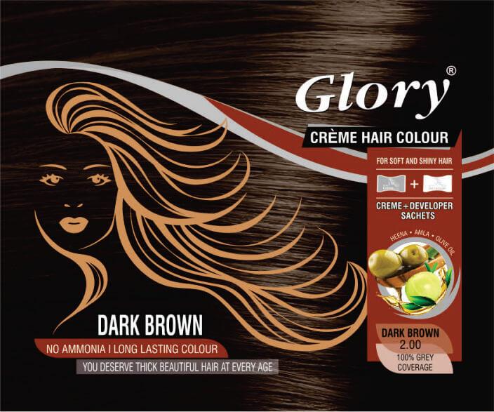 Dark Brown Crème Hair Color