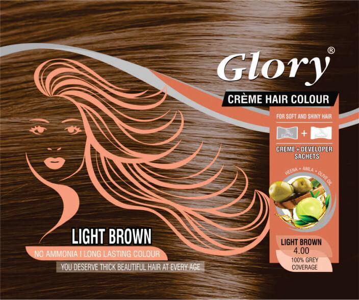 Light Brown Crème Hair Color