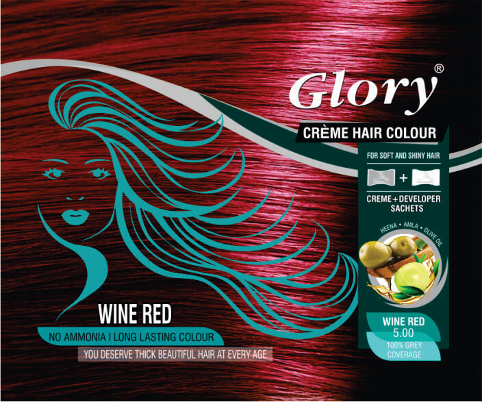 Wine Red Crème Hair Color
